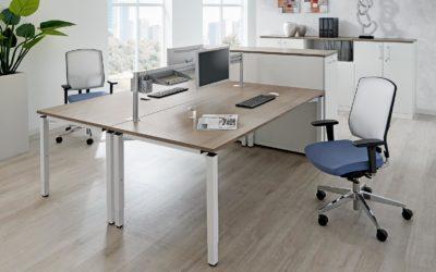 Schreibtische von FM Büromöbel der Serie all-in-one