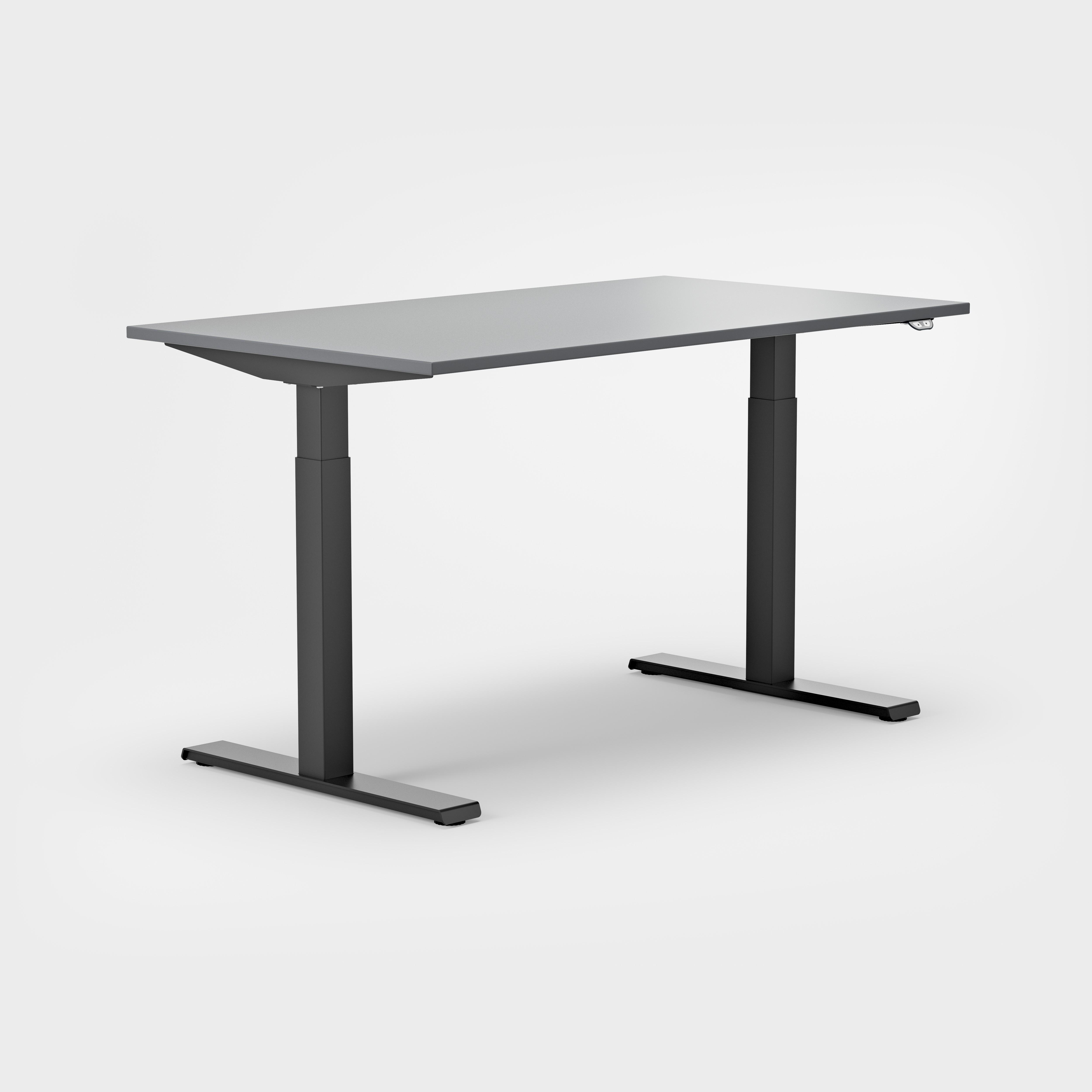 Serie P Sitz-Stehtisch dunkles Gestell